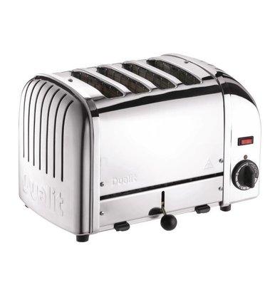 Dualit Toaster Chrom | 2,2kW/230V | 4 Schlitze | 130 Scheiben pro Stunde