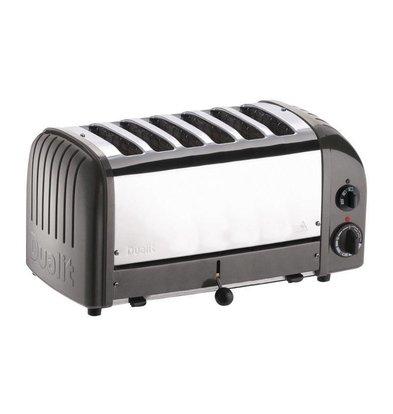 Dualit Toaster Grau | 3kW/230V | 6 Schlitze | 195 Scheiben pro Stunde