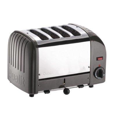 Dualit Toaster Grau | 2,2kW/230V | 4 Schlitze | 130 Scheiben pro Stunde