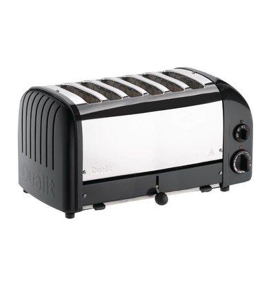 Dualit Toaster Schwarz | 3kW/230V | 6 Schlitze | 195 Scheiben pro Stunde