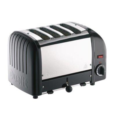 Dualit Toaster Schwarz| 2,2kW/230V | 4 Schlitze | 130 Scheiben pro Stunde