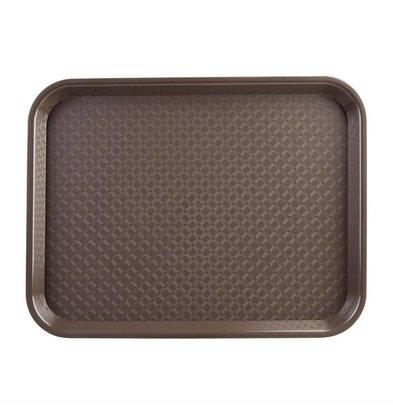 Kristallon Fast-Food-Tablett | Polypropylen | Braun | Erhältlich in 3 Größen
