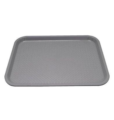 Kristallon Fast-Food-Tablett | Polypropylen | Grau | Erhältlich in 3 Größen