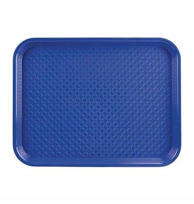 Kristallon Fast-Food-Tablett | Polypropylen | Blau | Erhältlich in 3 Größen