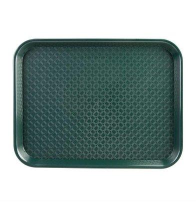 Kristallon Fast-Food-Tablett | Polypropylen | Grün | Erhältlich in 3 Größen