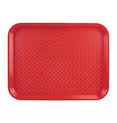 Kristallon Fast-Food-Tablett | Polypropylen | Rot | Erhältlich in 3 Größen