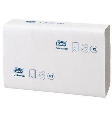 Tork Z-gefaltene Handtücher Weiß | 1-Lagig | Lotus | 12x250 Tücher