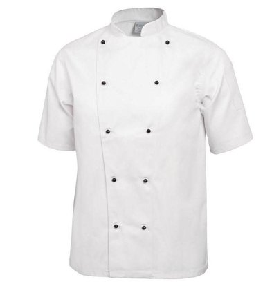 Whites Chefs Clothing Whites Chicago Kochjacke Weiß mit Kugelknöpfen | Erhältlich in 6 Größen