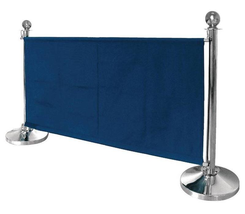 Bolero Abschirmwand für Absperrpfosten | Blau