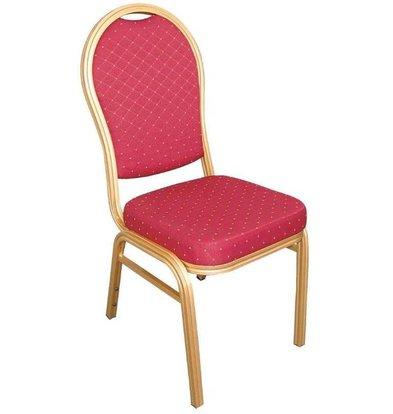 Bolero Bankettstühle runder Lehne | 4 Stück | Aluminium/Stoff | Erhältlich in 2 Farben