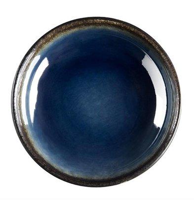 Olympia Dippschale Rund Nomi | Blau-Schwarz | Ø 95m | 12 Stück