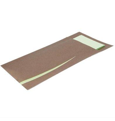 Europochette Bestecktasche mit Serviette | Braun-Mint | 125 Stück