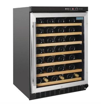 Polar Weinkühlschrank 54 Flaschen | 7 Holzregale | 595x570x(h)865mm