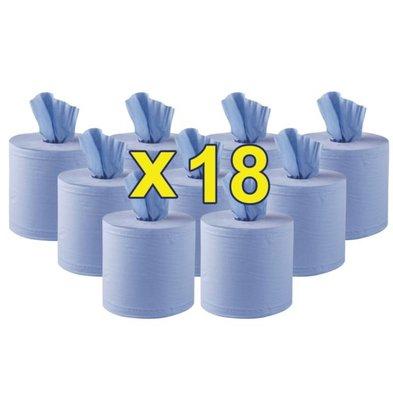 Jantex Handtuchrollen Blau Innenabrollung | 2-Lagig | 18 Rollen