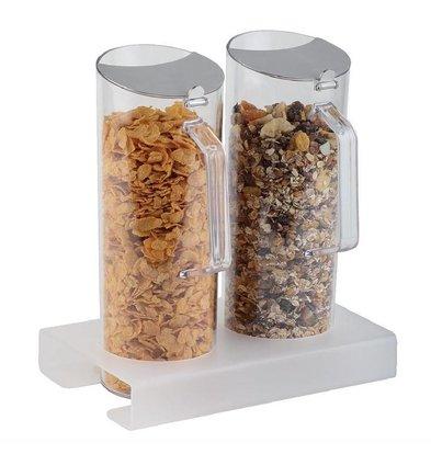 XXLselect Cerealienbar mit 2 Karaffen | 260x165x(h)290mm