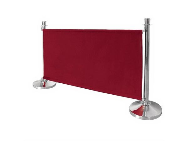 Bolero Abschirmwand für Absperrpfosten Rot | 1430x20x(h)700mm
