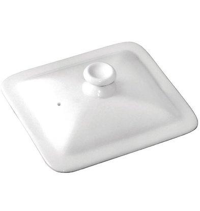 Olympia Deckel 1/6GN | Olympia Porzellan Weiß | Höhe 48mm