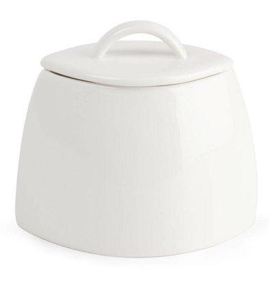 Lumina Fine China Zuckerdose+Deckel | Lumina Porzellan Weiß | 200ml | 6 Stück