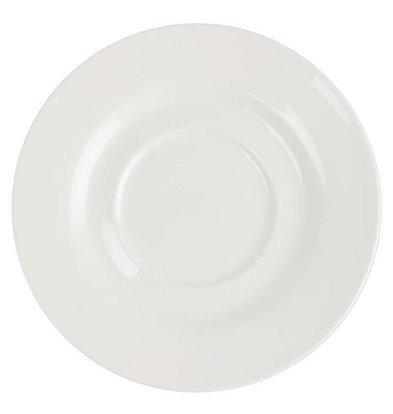 Lumina Fine China Untertasse | Lumina Porzellan Weiß | 160mm | 6 Stück