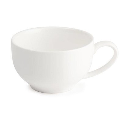 Lumina Fine China Kaffeetasse | Lumina Porzellan Weiß | 350ml | 6 Stück