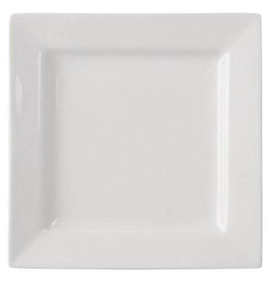 Lumina Fine China Teller Quadratisch | Lumina Porzellan Weiß | 170mm | 6 Stück