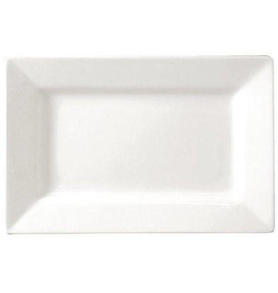 Lumina Fine China Teller Rechteckig | Lumina Porzellan Weiß | 310x175mm | 2 Stück