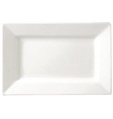 Lumina Fine China Teller Rechteckig | Lumina Porzellan Weiß | 200x130mm | 6 Stück