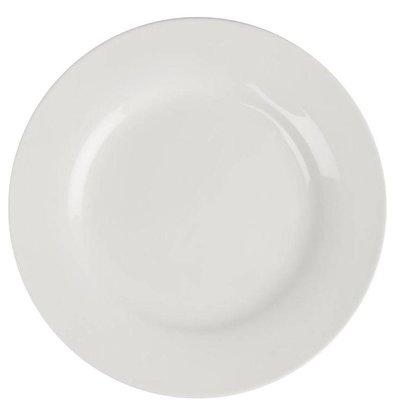 Lumina Fine China Teller Rand breit | Lumina Porzellan Weiß | Ø180mm | 6 Stück