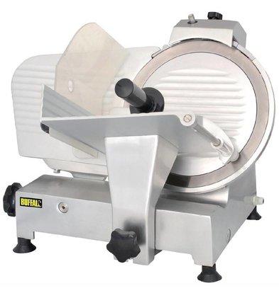 Buffalo Aufschnittmaschine Aluminium | Integrierter Messerschärfer | Messer 300mm