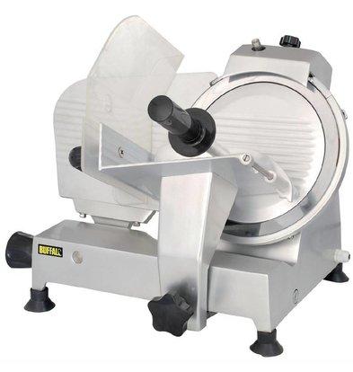 Buffalo Aufschnittmaschine Aluminium | Integrierter Messerschärfer | Messer 250mm