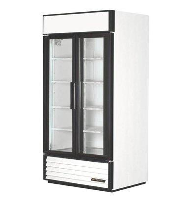 True Kühlschrank mit Doppelglastür | 995 Liter | 1000x750x(h)1990mm | 5 Jahre Garantie
