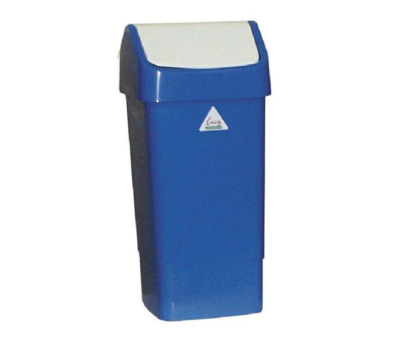Scot Young Abfalleimer mit Schwingdeckel | 50 Liter | Blau