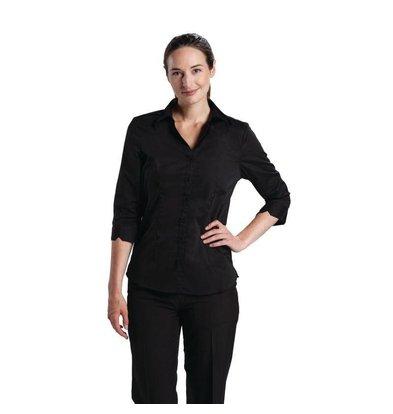 Chef Works Chef Works Damen Stretchshirt | Schwarz | Erhältlich in 5 Größen