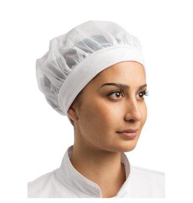 Whites Chefs Clothing Whites Netzhaube mit elastischem Stirnband   Universell