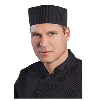 Chef Works Chef Works Unisex Cool Vent Beanie | Schwarz-Weiß Nadelstreifen