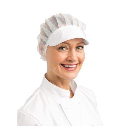 Whites Chefs Clothing Whites Haube mit Schirm weiß