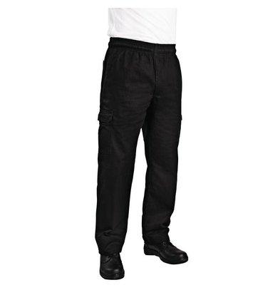 Chef Works Chef Works Unisex Cargohose Slim Fit | Schwarz | Erhältlich in 6 Größen
