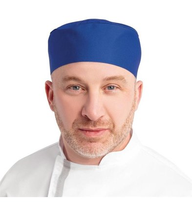 Whites Chefs Clothing Whites Skull Cap Unisex Kochmütze Königsblau