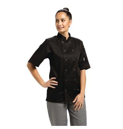 Whites Chefs Clothing Vegas Unisex Kochjacke Schwarz | Erhältlich in 6 Größen