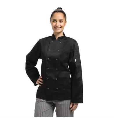 Whites Chefs Clothing Whites Vegas Kochjacke langen Ärmel Schwarz | Erhältlich in 6 Größen