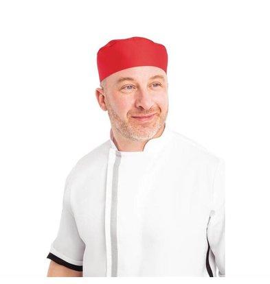 Whites Chefs Clothing Whites Skull Cap Unisex Kochmütze Rot