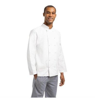 Whites Chefs Clothing Vegas Unisex Kochjacke lange Ärmel Weiß| Erhältlich in 6 Gößen
