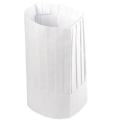 Plastico Plastico Einweg-Kochmütze Papier | Universell | 50 Stück