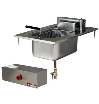 Diamond Drop-In Elektro Friteuse | 10 Liter | 400V-7,5kW | 100° tot 180°C | 400x600mm