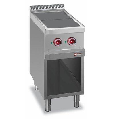 Diamond Elektroherd mit offenem Unterbau | 2 Kochfelder 300x300mm | 400V-5kW | 400x700x850/920(h)mm