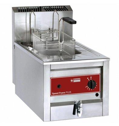Diamond Gas-Friteuse mit Ablaufhahn | Edelstahl | 12 Liter | Bis 190°C | 400x600x525(h)mm