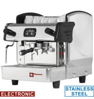 Diamond Espressomaschine Edelstahl | Kapazität 6 Liter | 230V-2,4kW | 523x580x(h)475mm