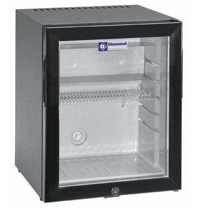 Diamond Minibar mit Glastür | 32 Liter | 402x406x500(h)mm