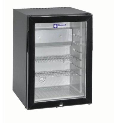 Diamond Minibar mit Glastür | 40 Liter | 402x450x560(h)mm