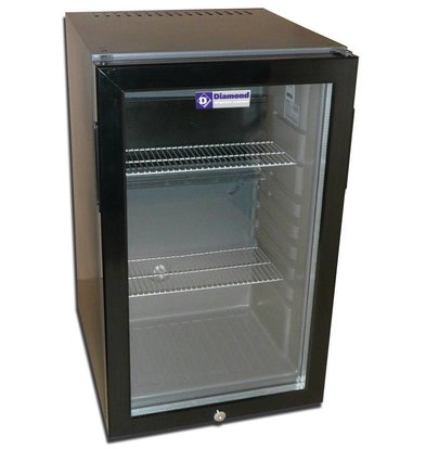 Diamond Minibar mit Glastür | 50 Liter | 400x450x680(h)mm